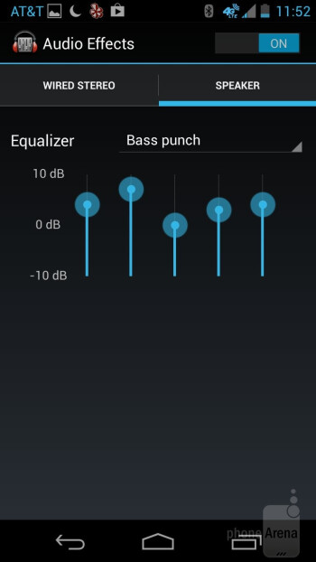 The Google Play Music app is in tow with the two phones - Google Nexus 5 vs Motorola Moto X