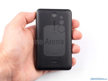 The matte shell of the Nokia Asha 501 feels nice and a bit soft to touch - Nokia Asha 501 Review