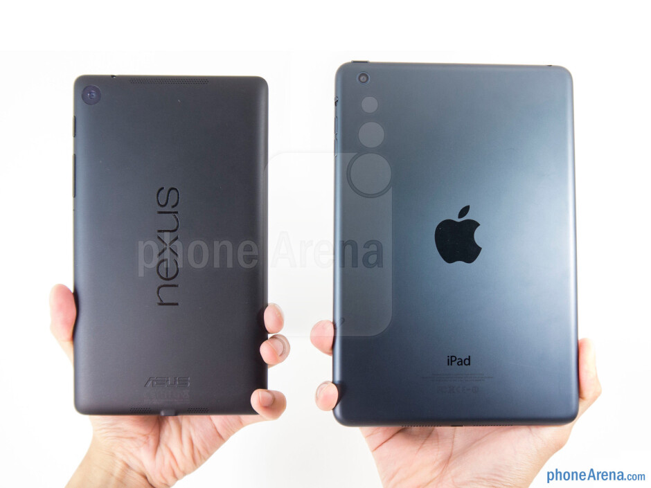 The Google Nexus 7 (left) and the Apple iPad mini (right) - Google Nexus 7 (2013) vs Apple iPad mini