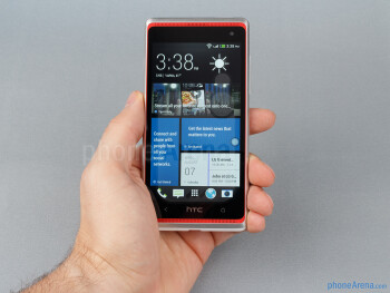 The HTC Desire 600 nestles comfortably in the palm of your hand - HTC Desire 600 Review