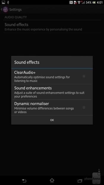 Music player of the Sony Xperia Z Ultra - Sony Xperia Z Ultra vs Samsung Galaxy Mega 6.3