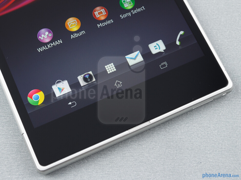 On-screen buttons - Sony Xperia Z Ultra Review