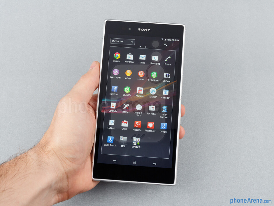 One-handed operation is very hard with the Sony Xperia Z Ultra - Sony Xperia Z Ultra Review