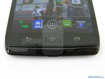 Capacitive control buttons - Motorola DROID Ultra Review