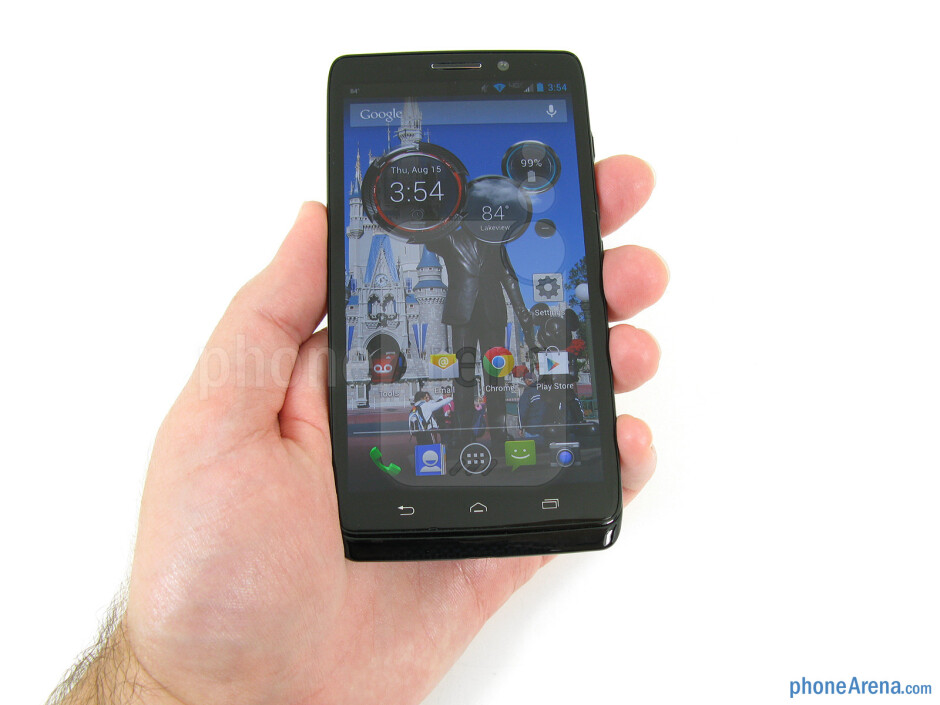 The Motorola DROID Ultra fits comfortably in the hand - Motorola DROID Ultra Review