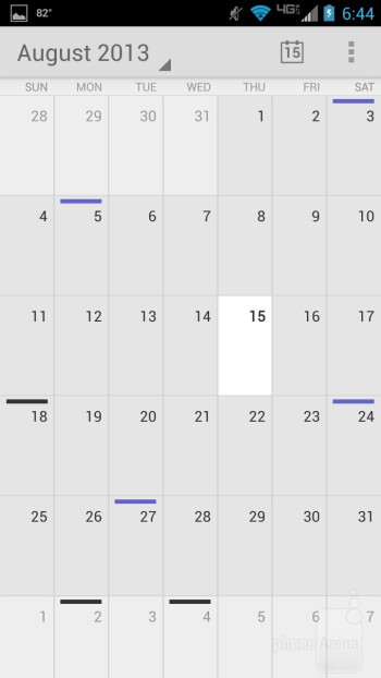 Calendar - Motorola DROID MAXX Review