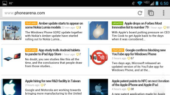 Web browsing on the Motorola DROID Ultra - Motorola DROID Ultra vs LG G2