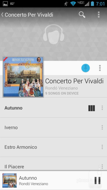 The standard Google Play Music app - Motorola DROID MAXX Review