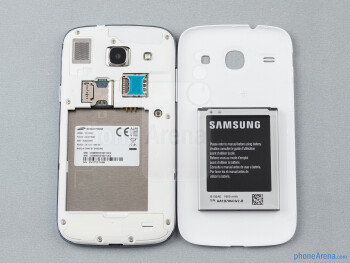 Back cover removed - Samsung Galaxy Core Review