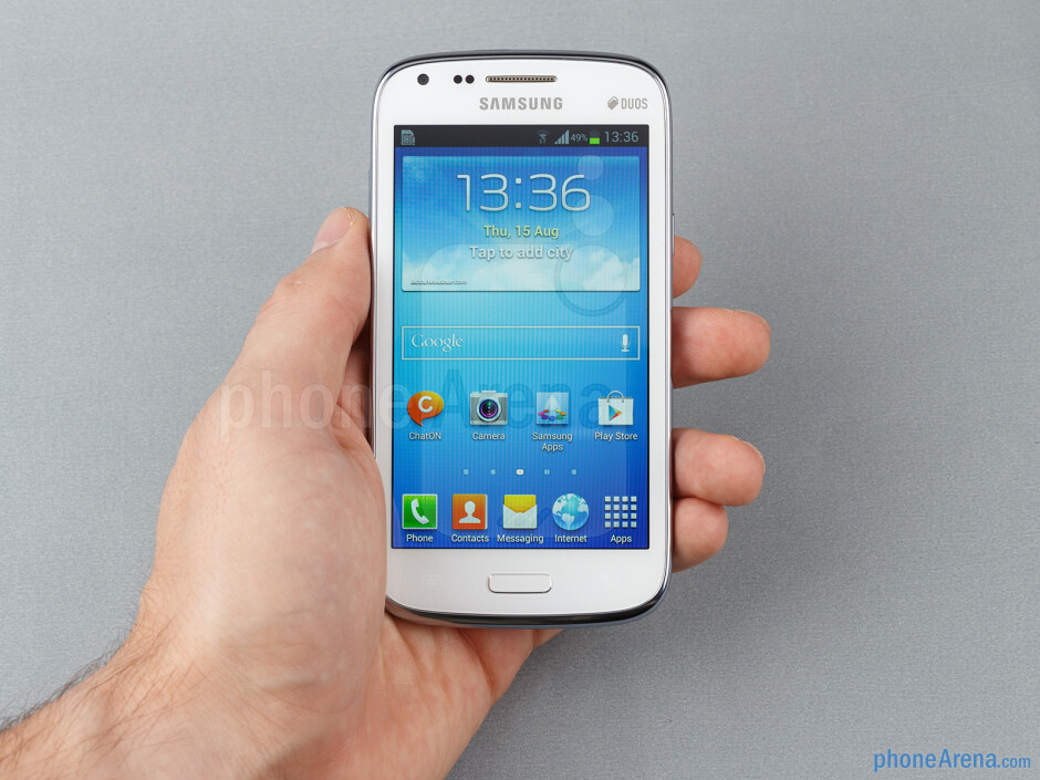 The Samsung Galaxy Core is relatively compact and easy to use single-handedly - Samsung Galaxy Core Review