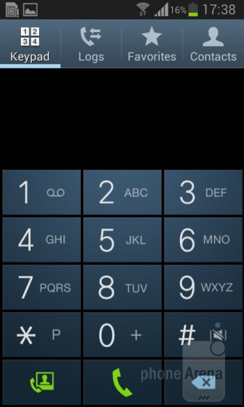 Dialer - Samsung Galaxy Core Review