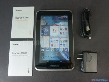 Box and contents - Lenovo IdeaTab A1000 Review