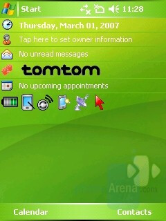 Home screen - HTC P3300 Artemis Review