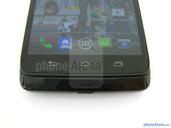 Capacitive control buttons - Motorola DROID Mini Review