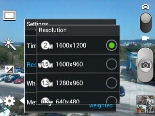 Camera interface - Samsung Galaxy Pocket Neo Review