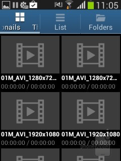 The built-in video player of the Samsung Galaxy Pocket Neo - Samsung Galaxy Pocket Neo Review