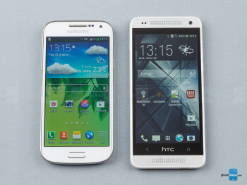 The Samsung Galaxy S4 mini (left) and the HTC One mini (right) - Samsung Galaxy S4 mini vs HTC One mini