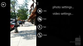 Camera interface - Samsung ATIV S Neo Review
