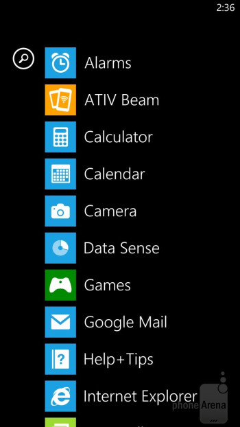 Interface of the Samsung ATIV S Neo - Samsung ATIV S Neo Review