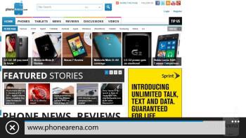 The Samsung ATIV S Neo comes loaded with Internet Explorer 10 - Samsung ATIV S Neo Review
