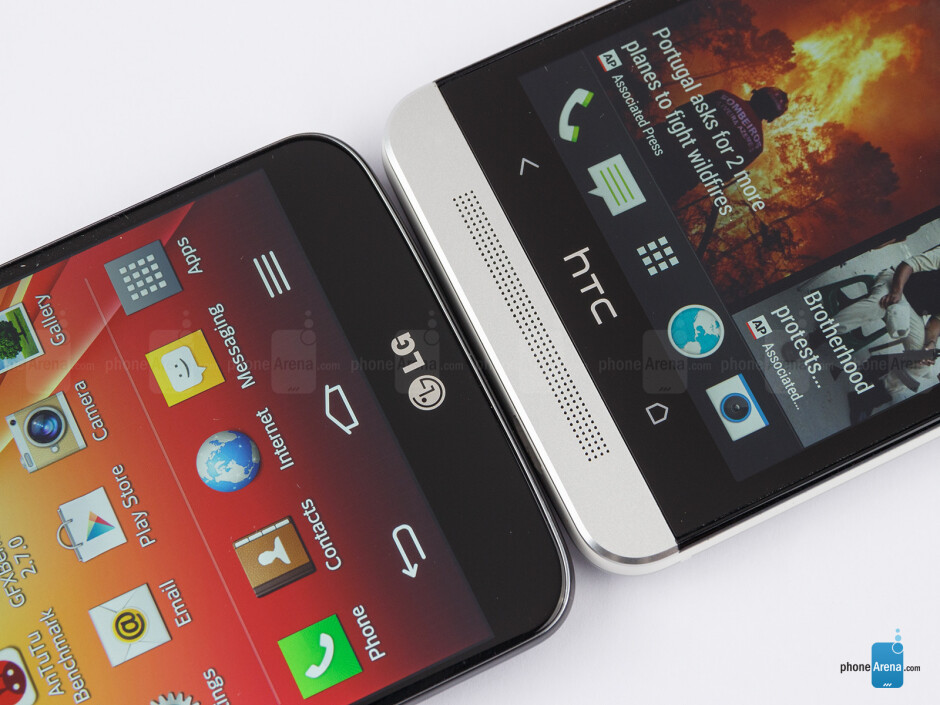 Android buttons - The LG G2 (left) and the HTC One (right) - LG G2 vs HTC One