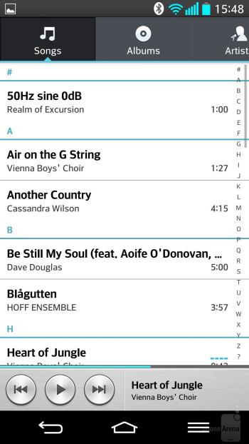 LG G2 - Music players - LG G2 vs HTC One