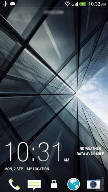 Interface of the HTC One - Google Nexus 5 vs HTC One