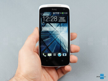 The HTC Desire 500 fits nicely in the palm - HTC Desire 500 Review