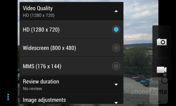 Camera interface - HTC Desire 500 Review