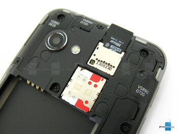 SIM and microSD card slots - LG Enact Review