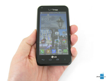 The LG Enact is fairly compact and fits comfortably in the hand - LG Enact Review