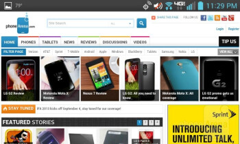 Web browsing with the LG Enact - LG Enact Review