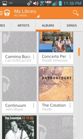 Google Play Music - Music apps - LG Enact Review