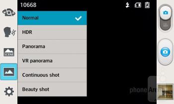 Camera interface - LG Enact Review