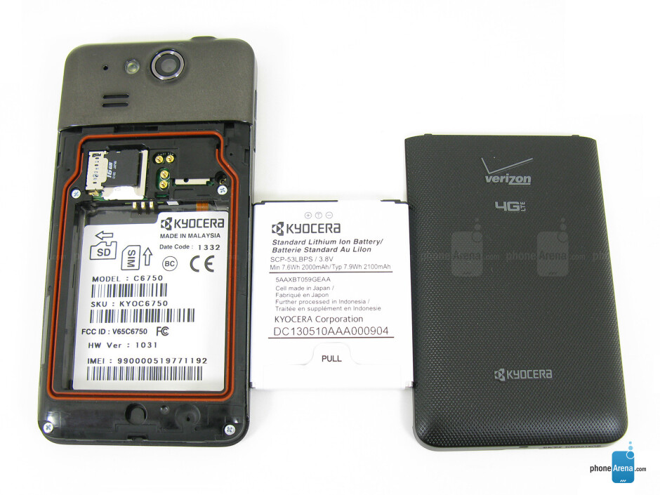 Battery compartment - Kyocera Hydro Elite Review