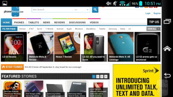 Web browsing with the Kyocera Hydro Elite - Kyocera Hydro Elite Review