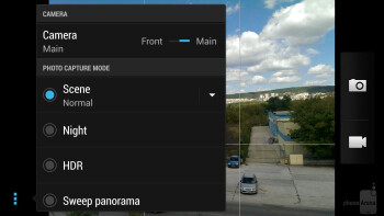 Camera interface - HTC Butterfly S Review