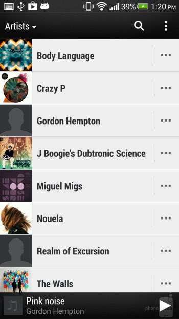 Music player - Multimedia apps of the HTC Butterfly S - HTC Butterfly S Review