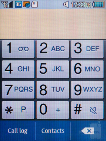 Dialer - Interface of the Samsung Gravity Q - Samsung Gravity Q Review
