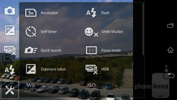Camera interface - Sony Xperia M Review