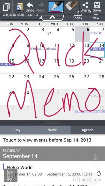 QuickMemo - Interface of the LG Optimus F6 - LG Optimus F6 Review