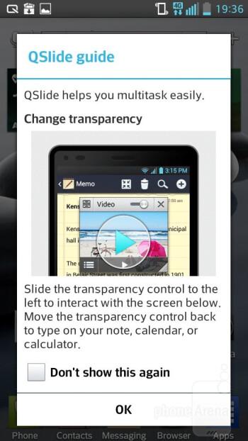 Q-Slide - Interface of the LG Optimus F6 - LG Optimus F6 Review