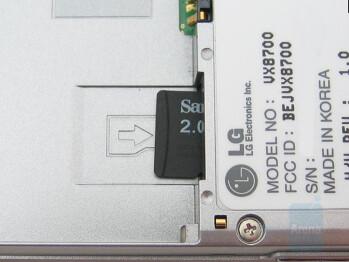 microSD card slot - LG VX8700 Review