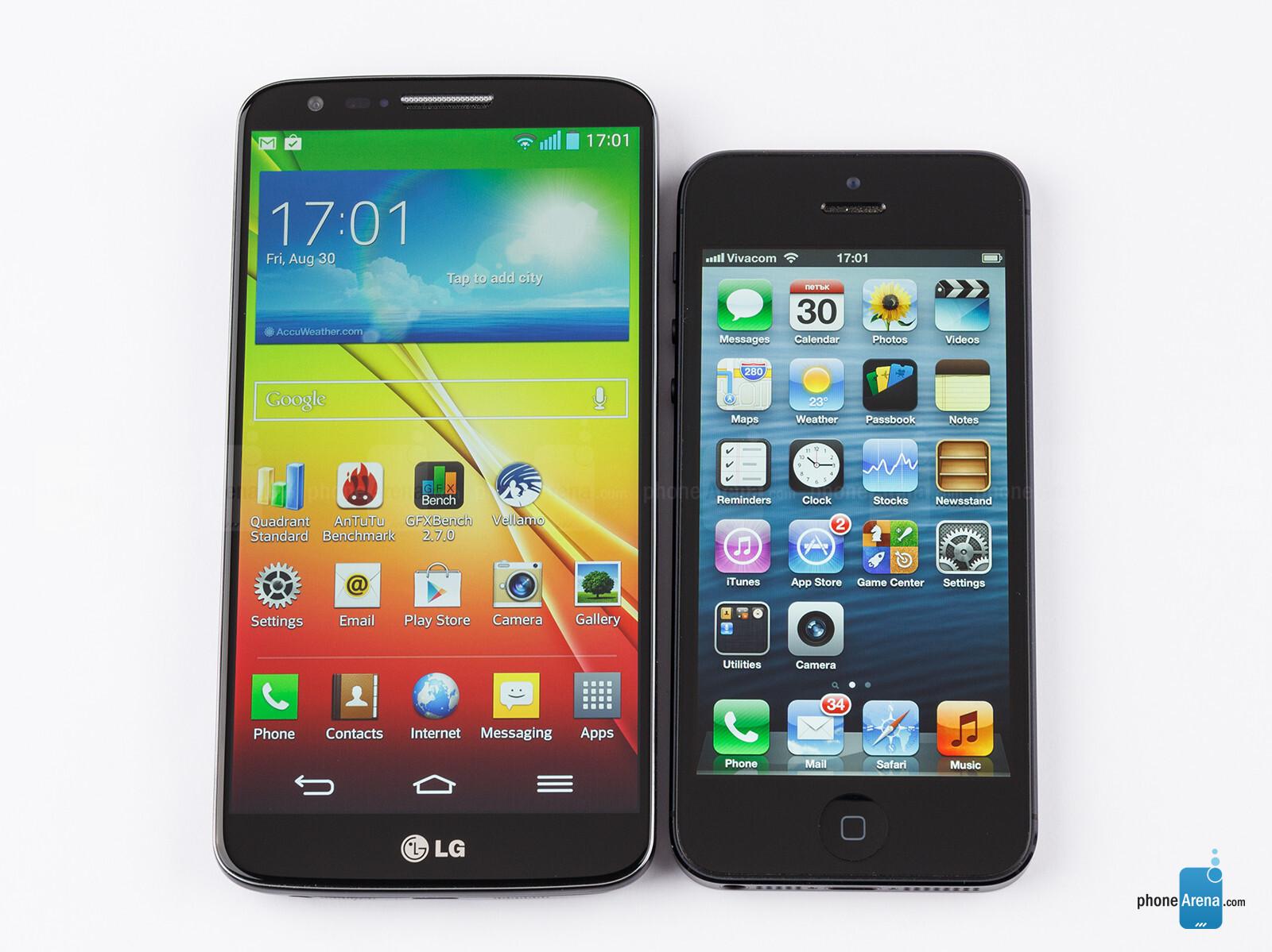 lg g2 vs iphone 5