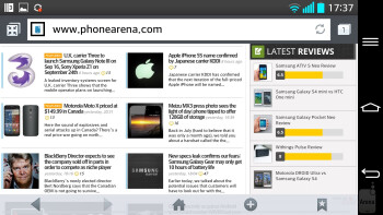 Web surfing with the LG G2 - LG G2 vs Apple iPhone 5
