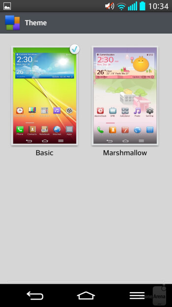 Interface of the LG G2 - LG G2 vs Apple iPhone 5