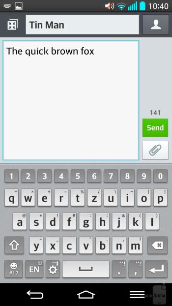 Messaging - LG G2 - LG G2 vs Apple iPhone 5