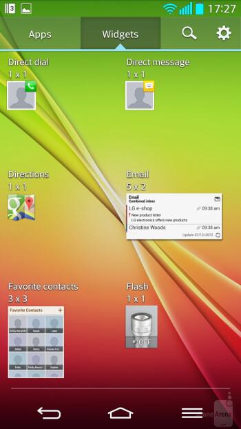 Interface of the LG G2 - LG G2 vs Motorola Moto X