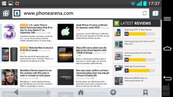 Web browser of the LG G2 - LG G2 vs Motorola Moto X