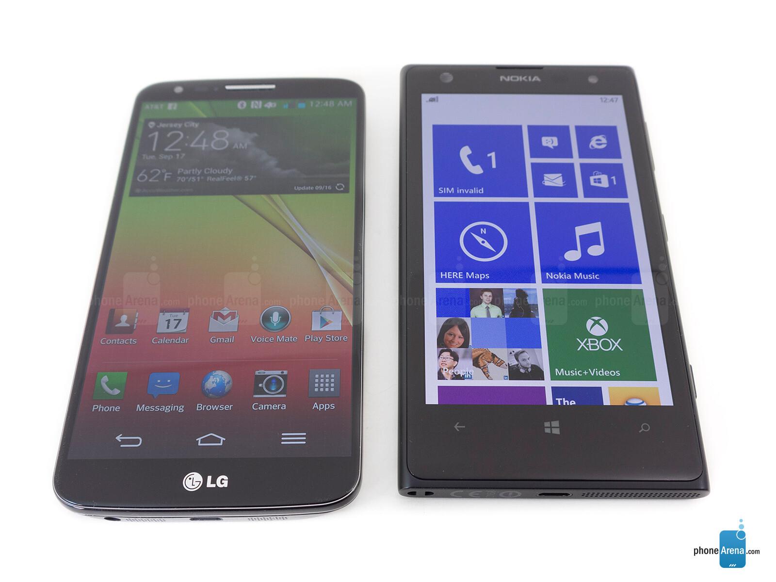 Lumia 1020 vs LG G2 Hien thi